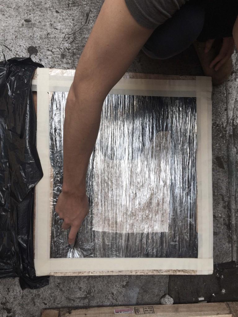 Cutting mold open